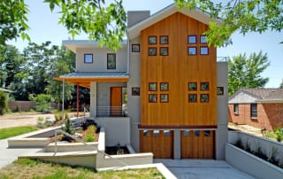 Denver modern custom home exterior
