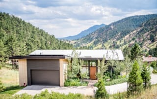 Energy efficient home in the foothills