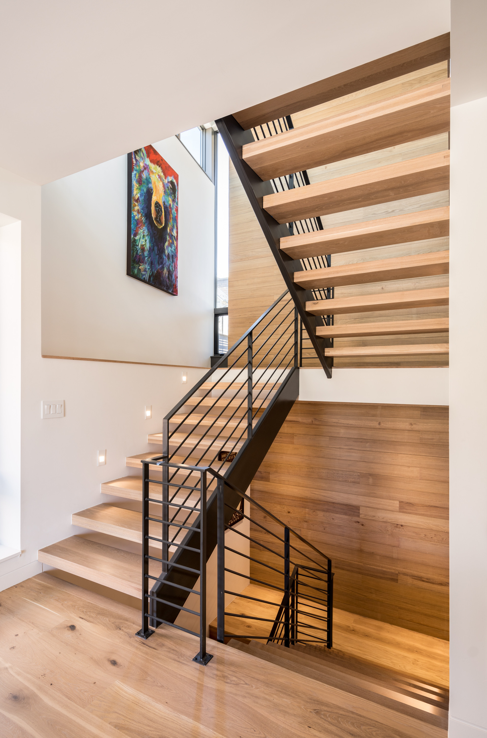 Staircase in Trailhead Home