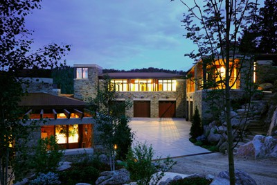 Custom green home created by builder Cottonwood Custom Builders of Boulder, CO